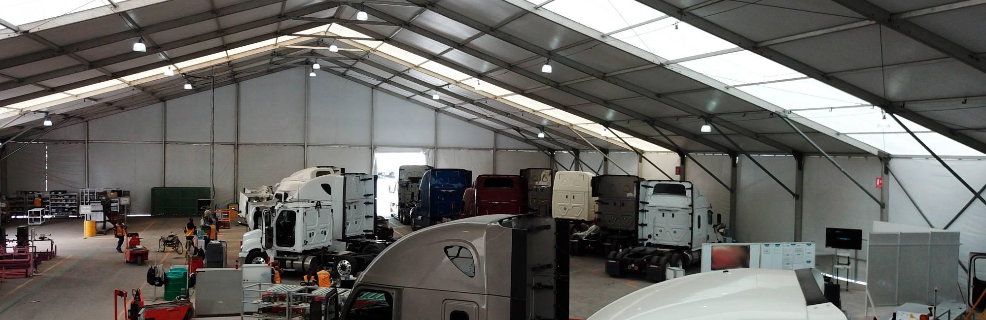 almacen temporal para trailer, almacen temporal para automoviles
