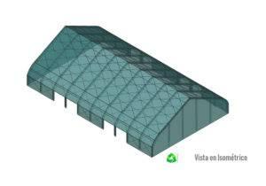 estructura metálica de bodega temporal
