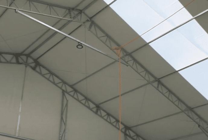 estructura con lona, carpa de lona